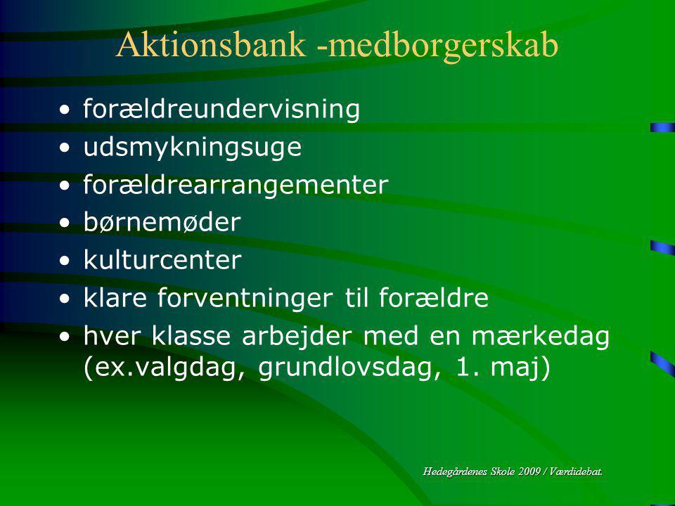 Hedegårdenes Skole 2009 / Værdidebat.
