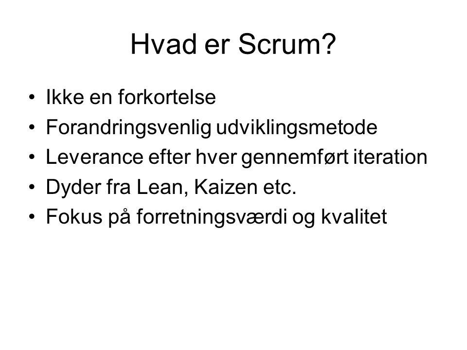 Hvad er Scrum.