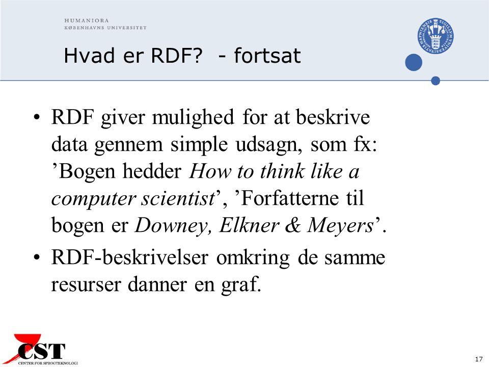 17 Hvad er RDF.