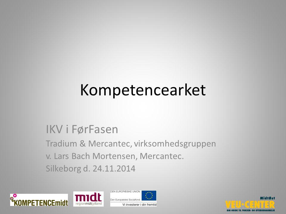 Kompetencearket IKV i FørFasen Tradium & Mercantec, virksomhedsgruppen v.