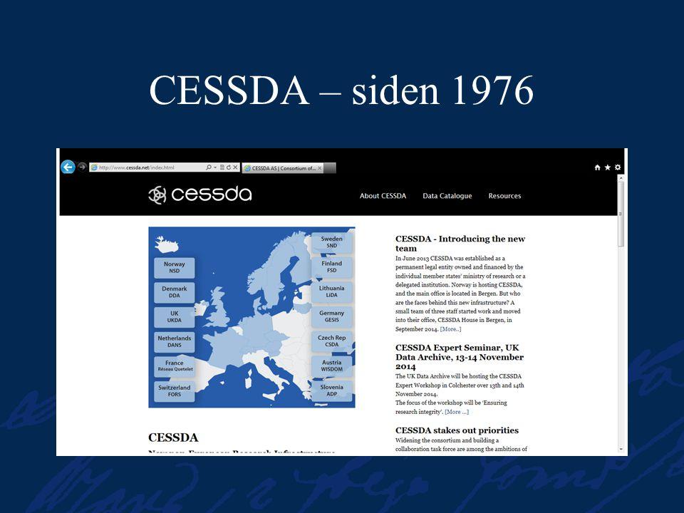 CESSDA – siden 1976