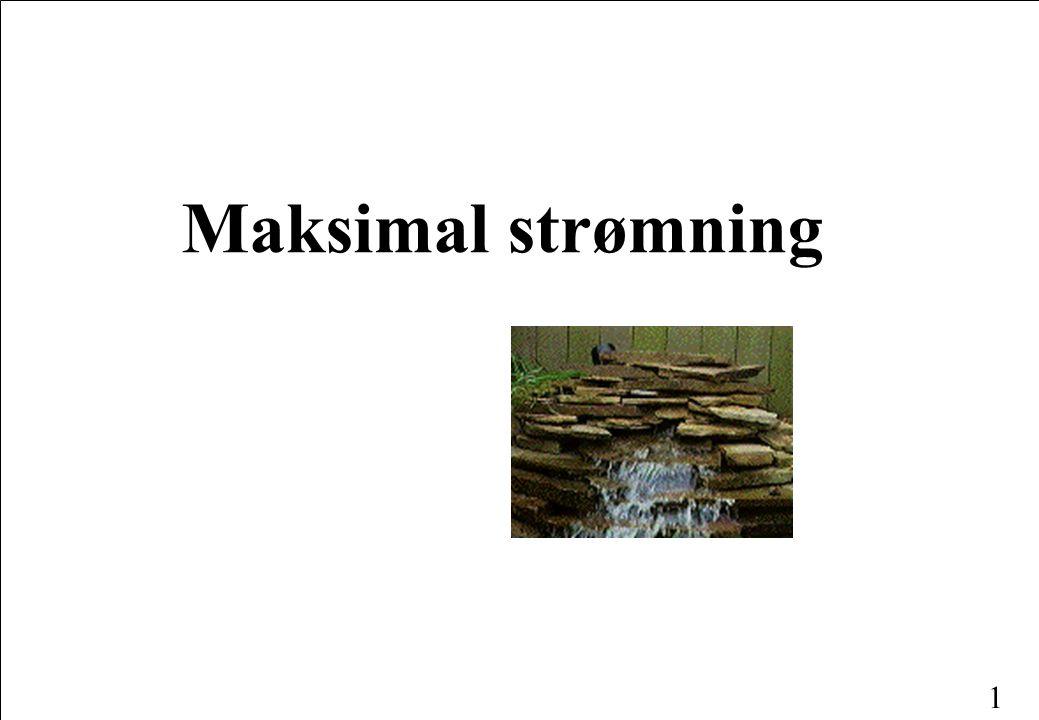 1 Maksimal strømning
