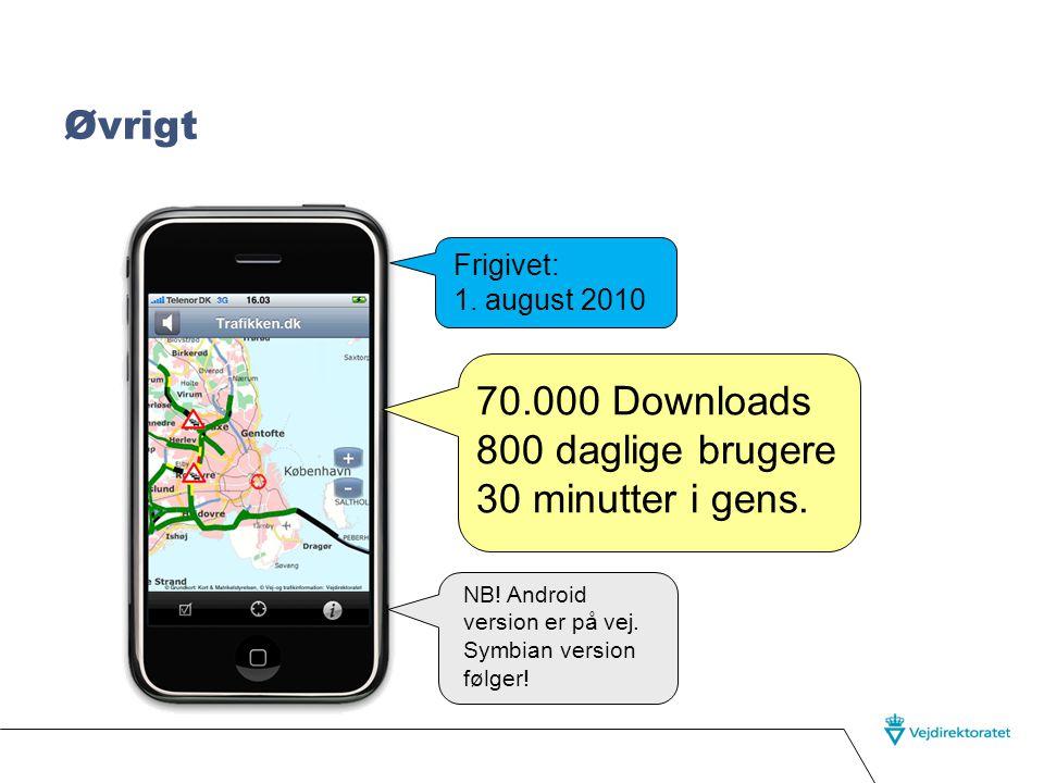 Oplæsning af trafikmeldinger på iPhone Følgende meldinger vises altid og læses op.
