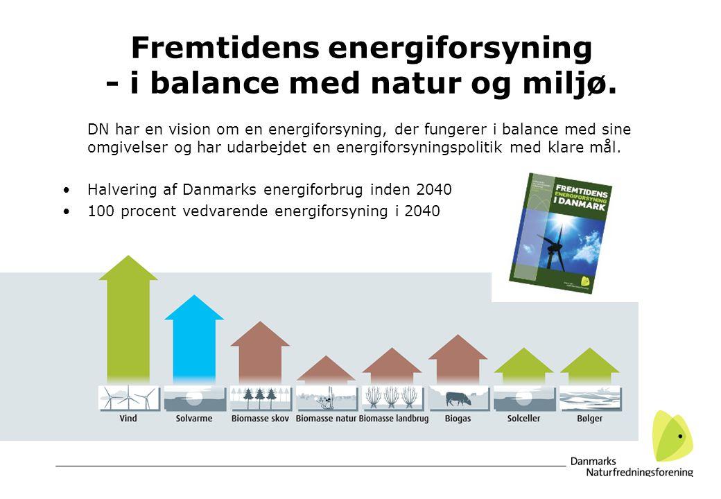 Fremtidens energiforsyning - i balance med natur og miljø.