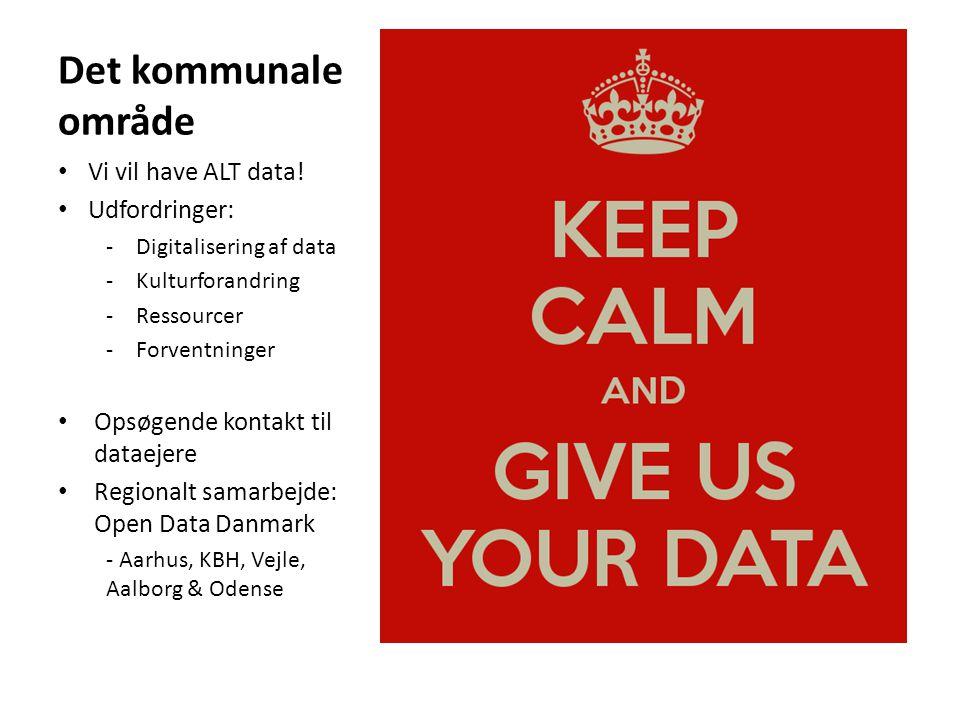Det kommunale område Vi vil have ALT data.