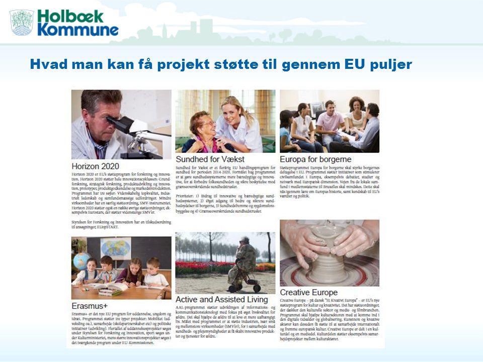 Hvad man kan få projekt støtte til gennem EU puljer
