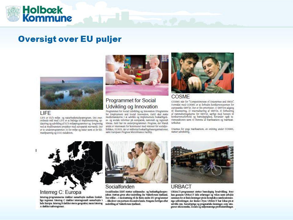 Oversigt over EU puljer