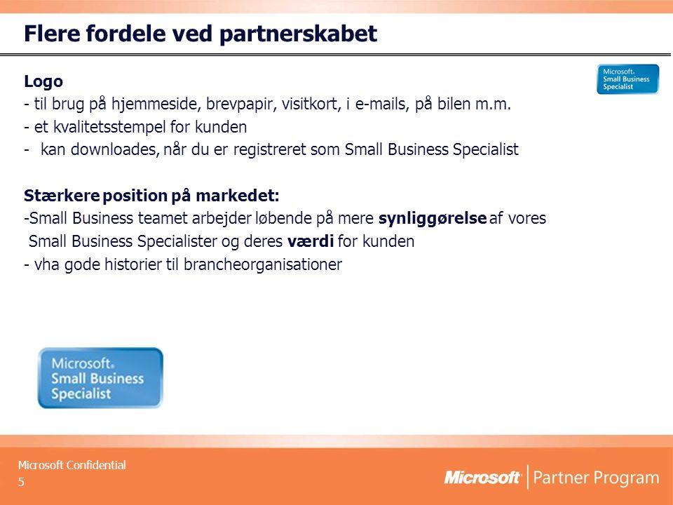 Microsoft Confidential Flere fordele ved partnerskabet Logo - til brug på hjemmeside, brevpapir, visitkort, i e-mails, på bilen m.m.