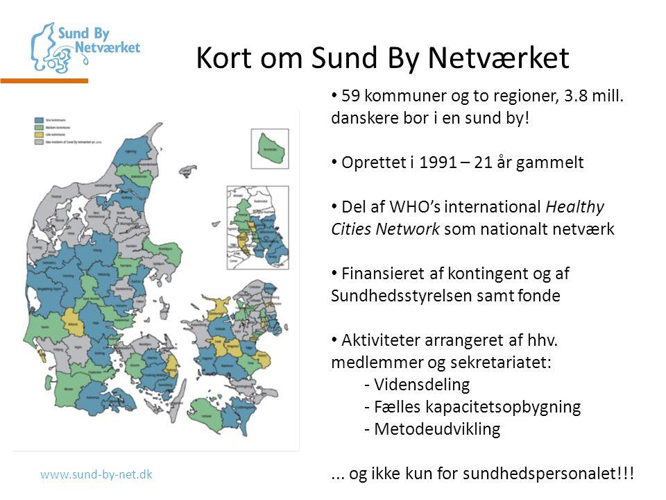 www.sund-by-net.dk Kort om Sund By Netværket 59 kommuner og to regioner, 3.8 mill.