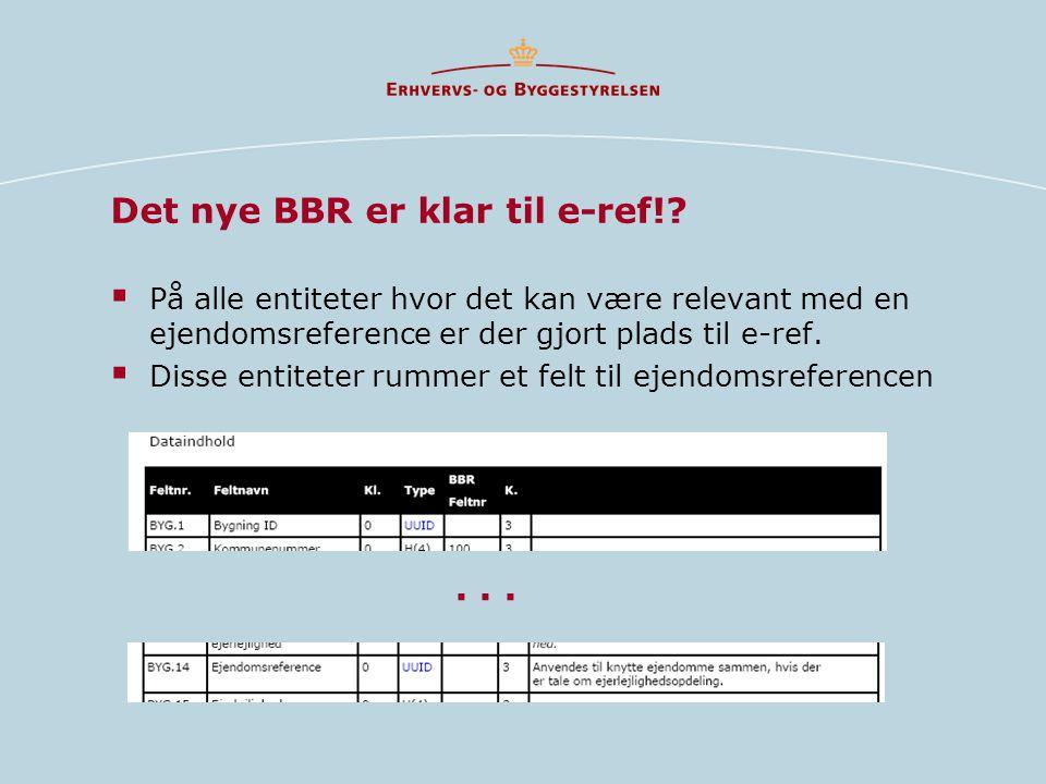 Det nye BBR er klar til e-ref!.