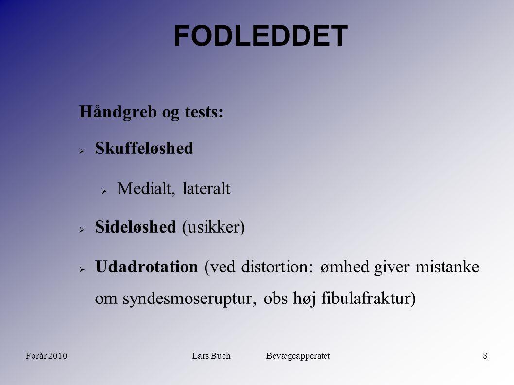 Forår 2010Lars Buch Bevægeapperatet9 FODLEDDET  Suction sign