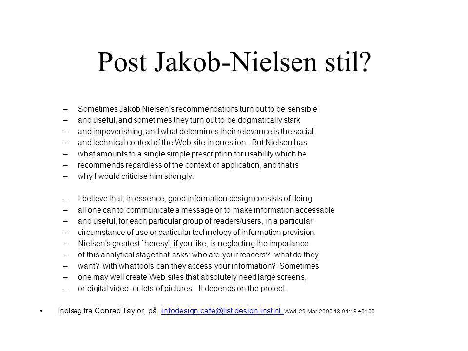 Post Jakob-Nielsen stil.