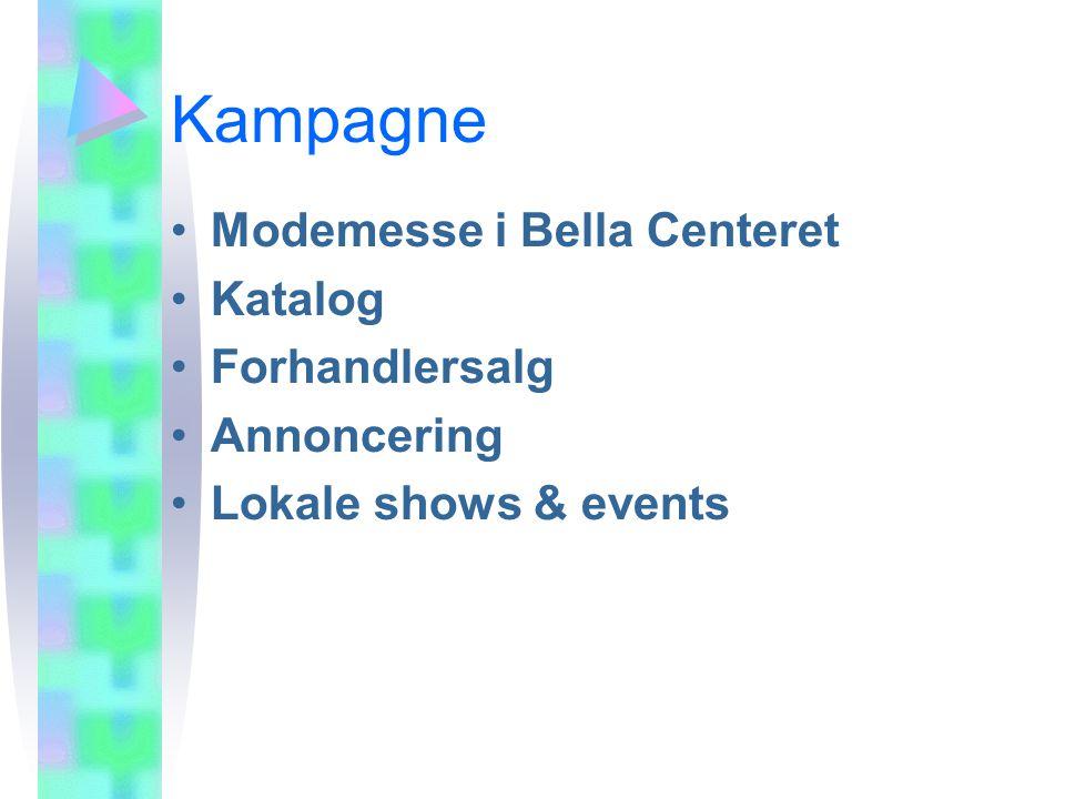 Kampagne Modemesse i Bella Centeret Katalog Forhandlersalg Annoncering Lokale shows & events