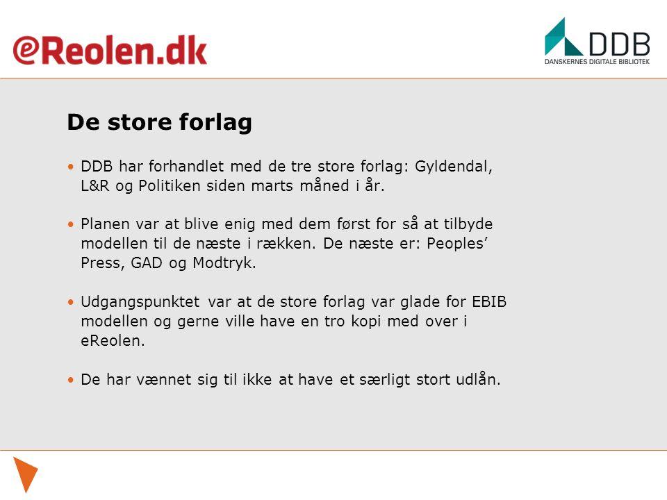 De store forlag DDB har forhandlet med de tre store forlag: Gyldendal, L&R og Politiken siden marts måned i år.