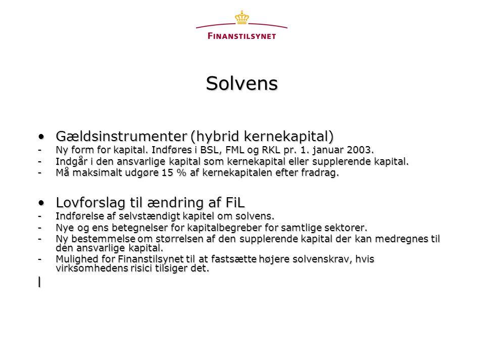 Solvens Gældsinstrumenter (hybrid kernekapital)Gældsinstrumenter (hybrid kernekapital) -Ny form for kapital.