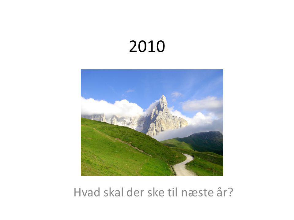 2010 Hvad skal der ske til næste år