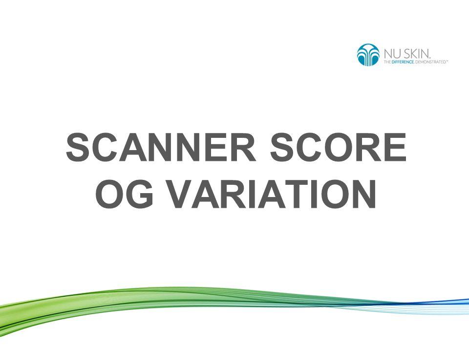 SCANNER SCORE OG VARIATION