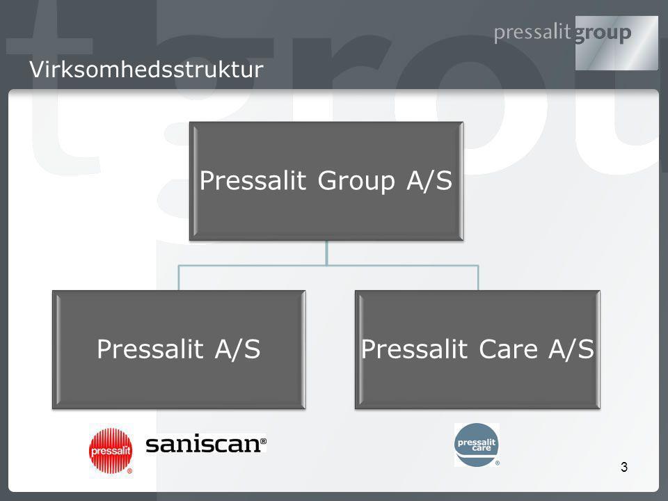 3 Virksomhedsstruktur Pressalit Group A/S Pressalit A/SPressalit Care A/S