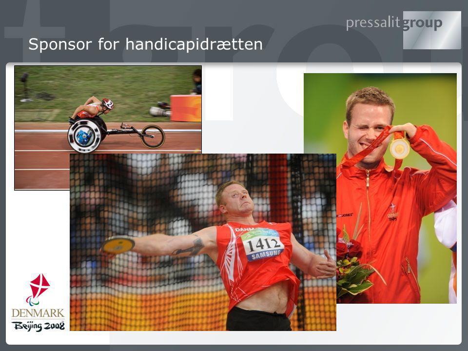 Sponsor for handicapidrætten