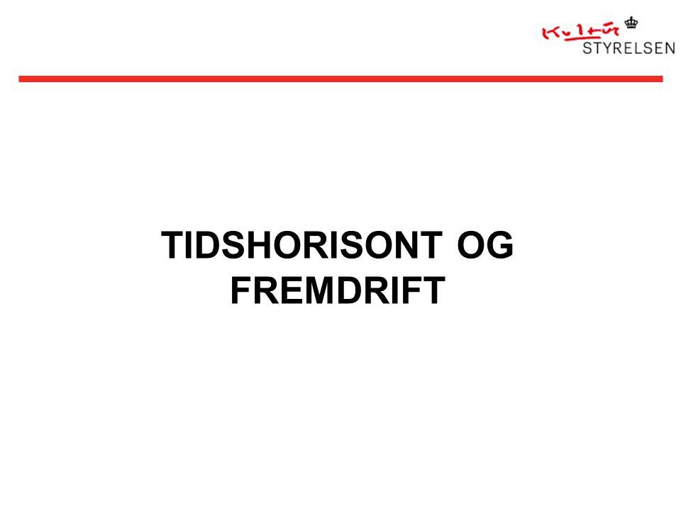 TIDSHORISONT OG FREMDRIFT