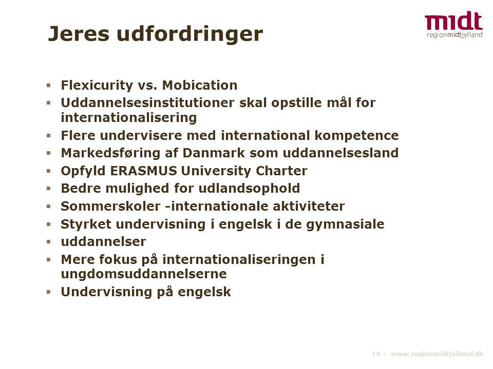 14 ▪ www.regionmidtjylland.dk Jeres udfordringer  Flexicurity vs.