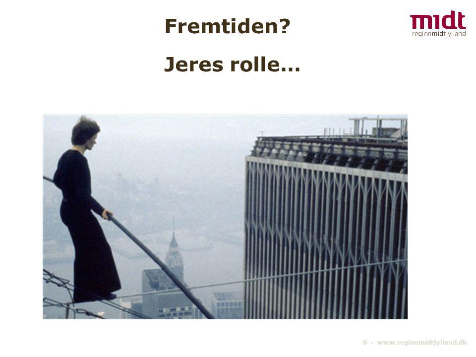8 ▪ www.regionmidtjylland.dk Fremtiden Jeres rolle…