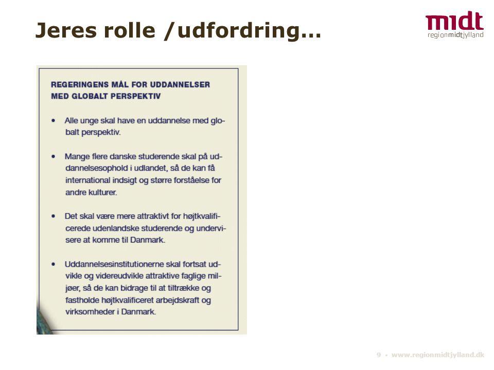 9 ▪ www.regionmidtjylland.dk Jeres rolle /udfordring…