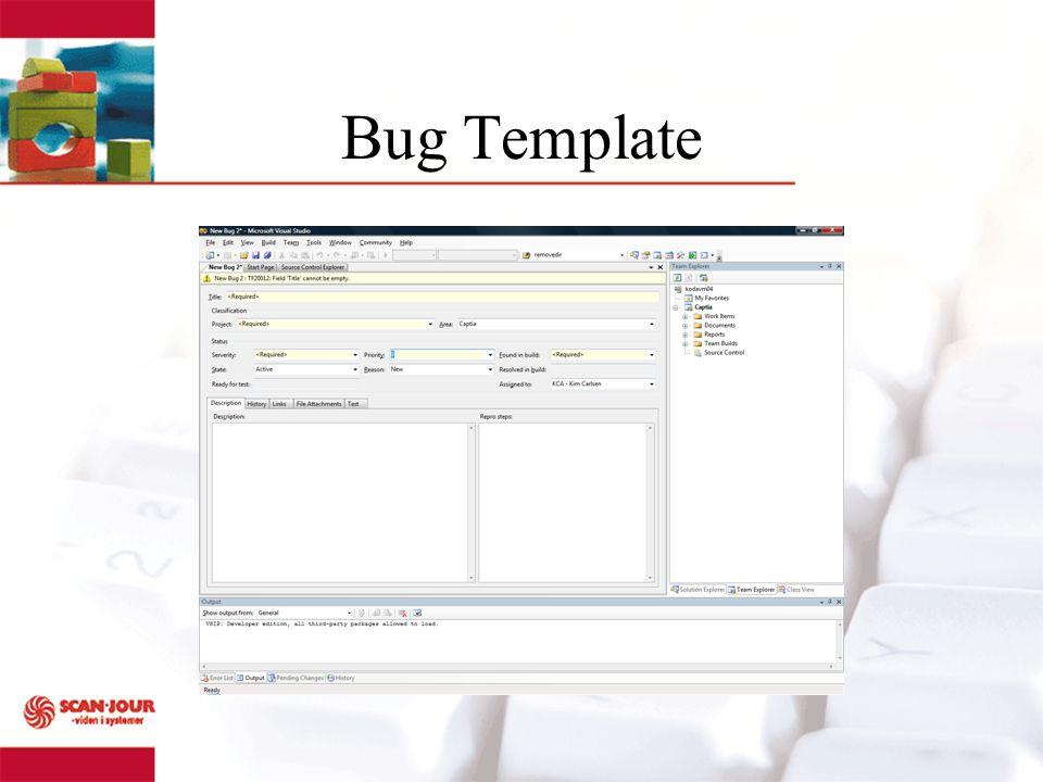 Bug Template