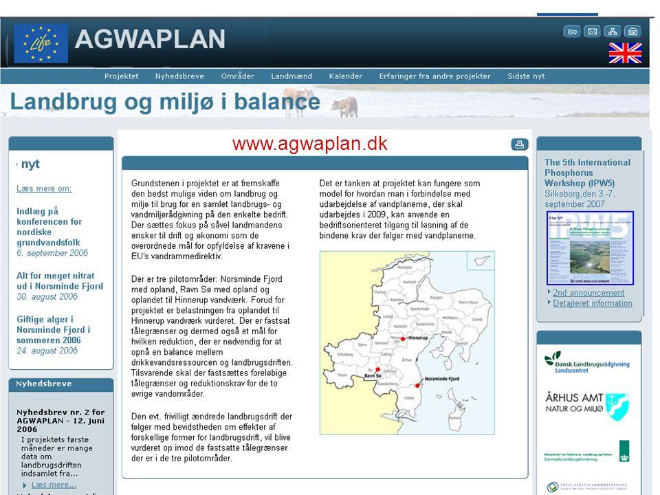 AGWAPLAN IDA- møde om Vandrammedirektivet 28.11 2006 Side 23 · · www.agwaplan.dk