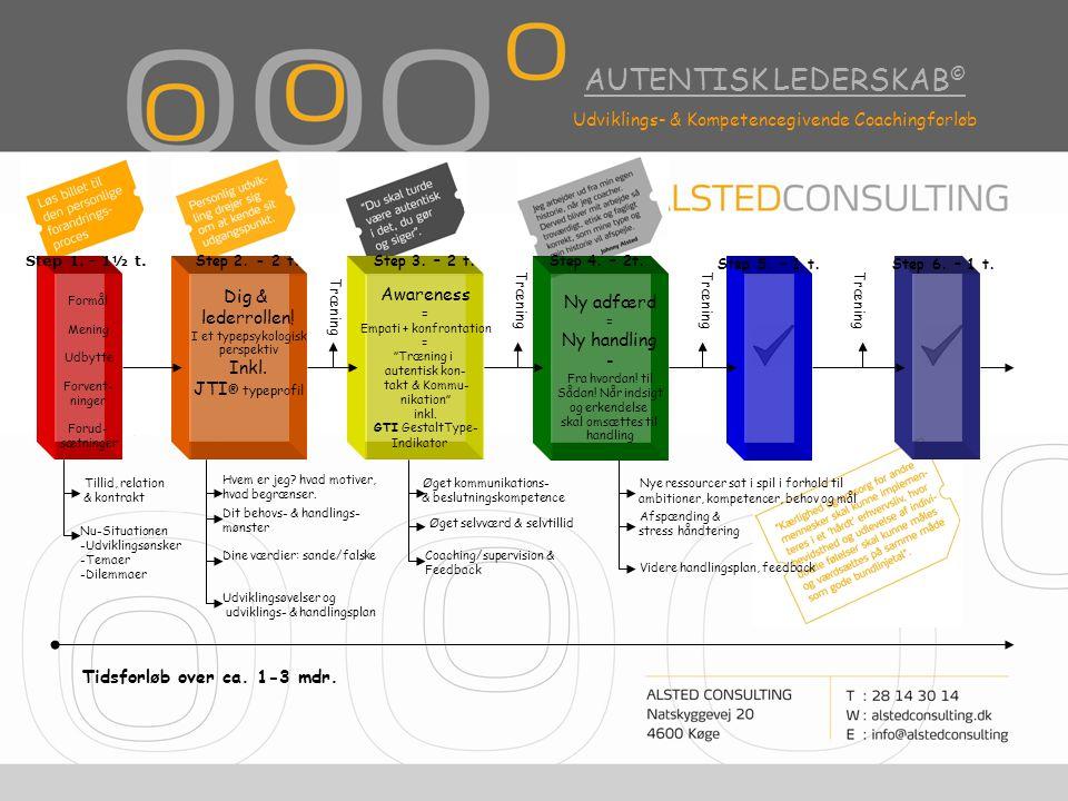 AUTENTISK LEDERSKAB © Udviklings- & Kompetencegivende Coachingforløb Dig & lederrollen.