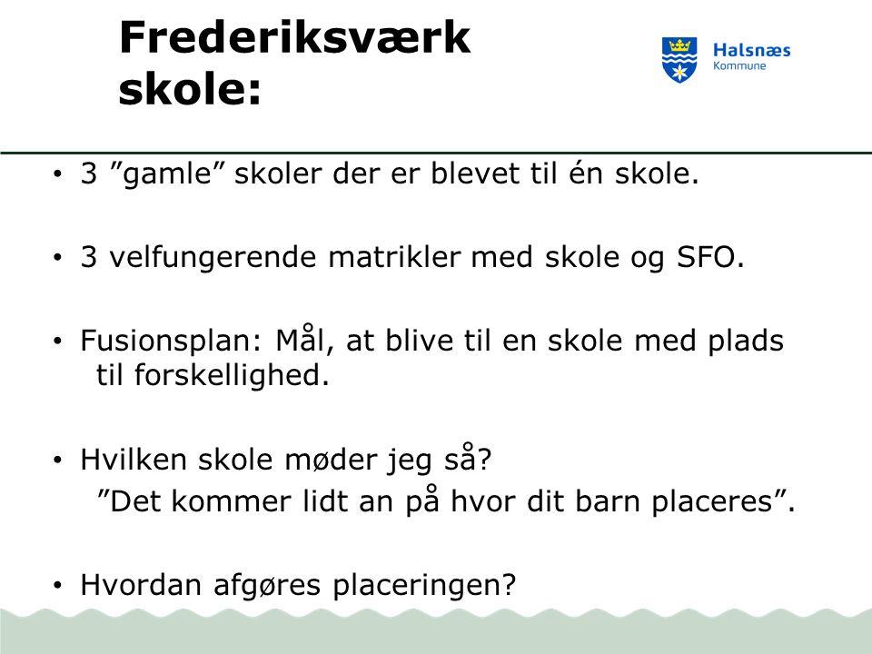 Frederiksværk skole: 3 gamle skoler der er blevet til én skole.