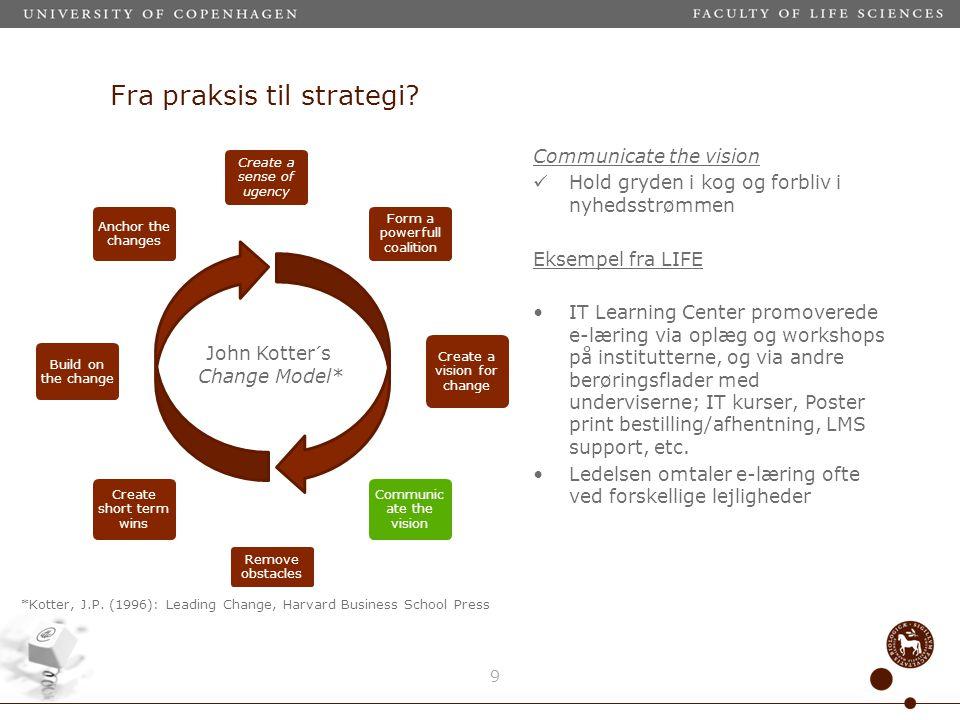 Fra praksis til strategi.