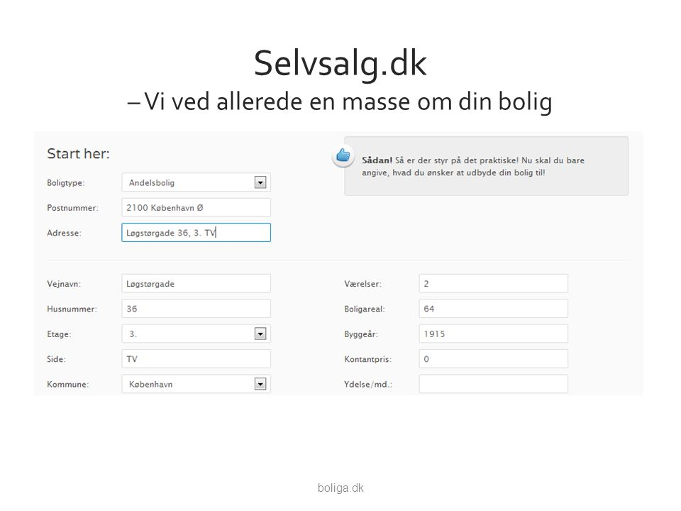 Selvsalg.dk – Vi ved allerede en masse om din bolig boliga.dk