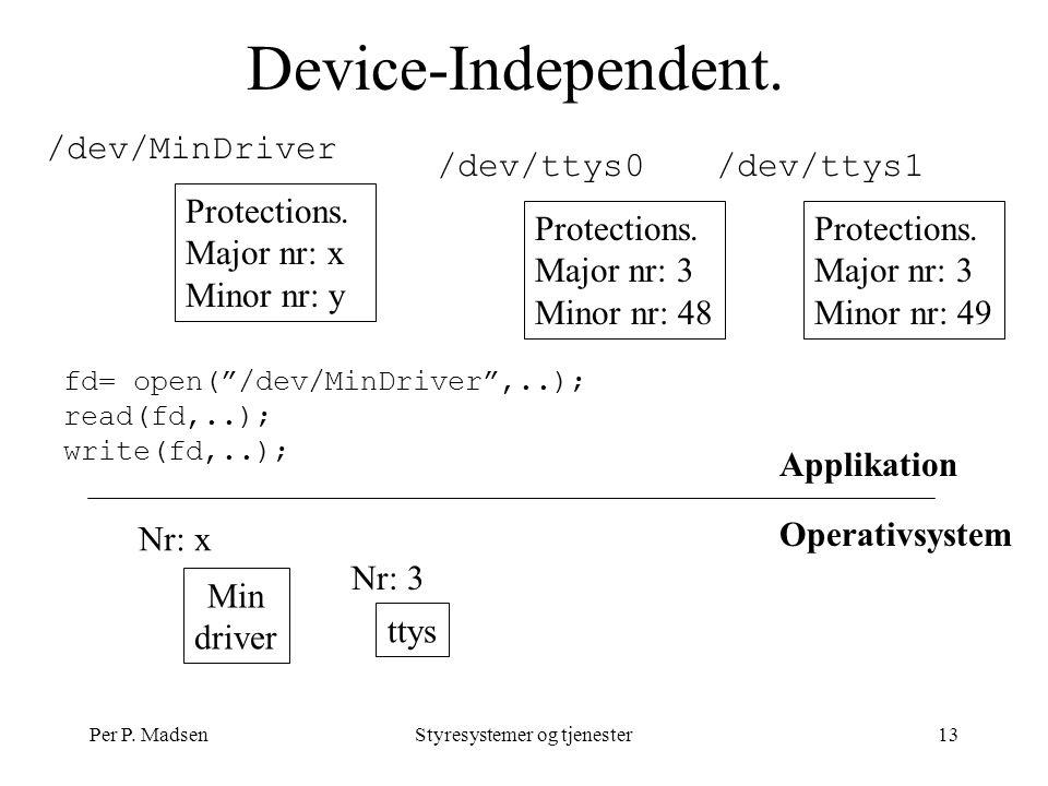 Per P. MadsenStyresystemer og tjenester13 Device-Independent.
