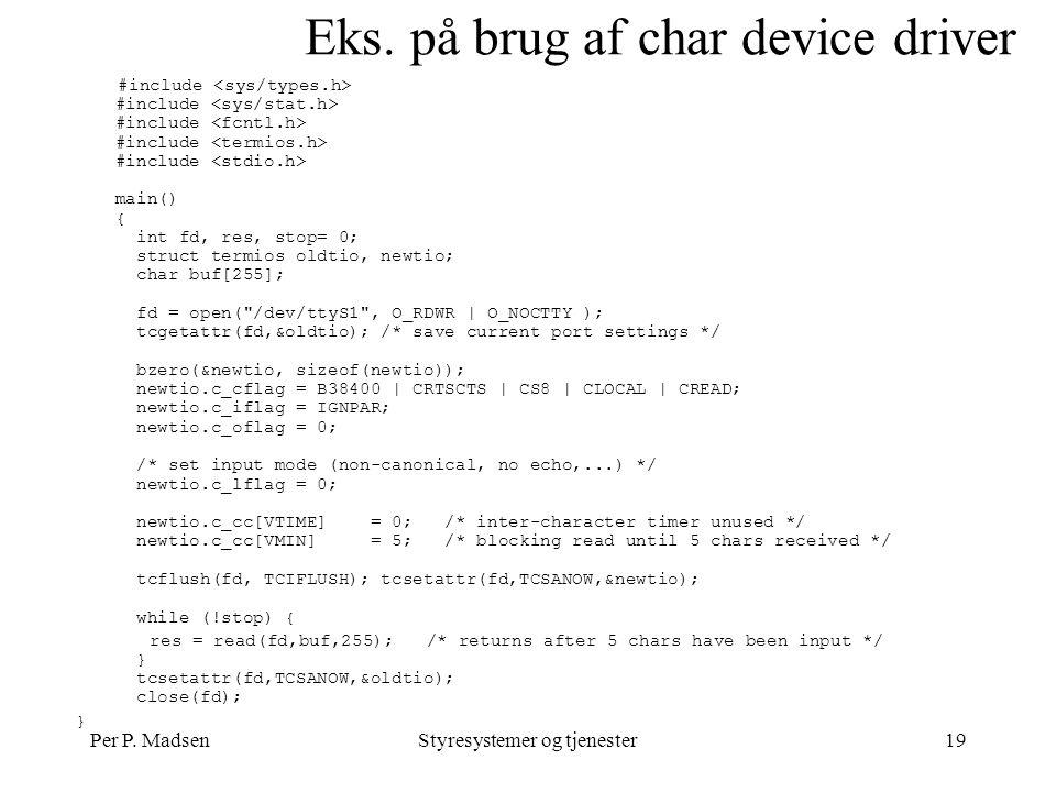 Per P. MadsenStyresystemer og tjenester19 Eks.