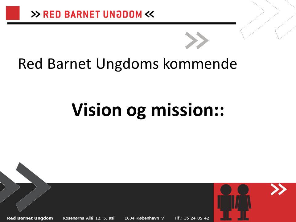 Red Barnet Ungdoms kommende Vision og mission::