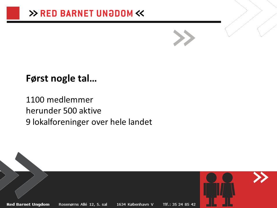 Først nogle tal… Red Barnet Ungdom Rosenørns Allé 12, 5.
