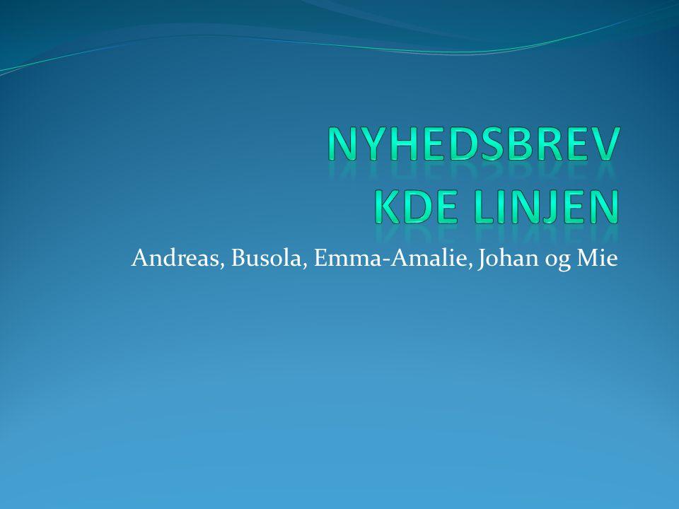 Andreas, Busola, Emma-Amalie, Johan og Mie
