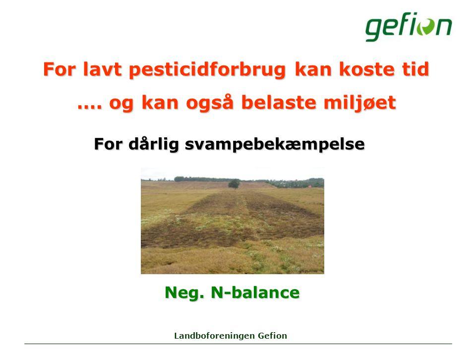 Landboforeningen Gefion For lavt pesticidforbrug kan koste tid ….
