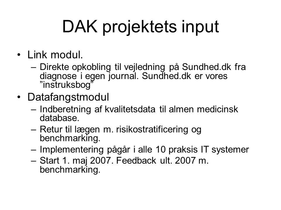 DAK projektets input Link modul.