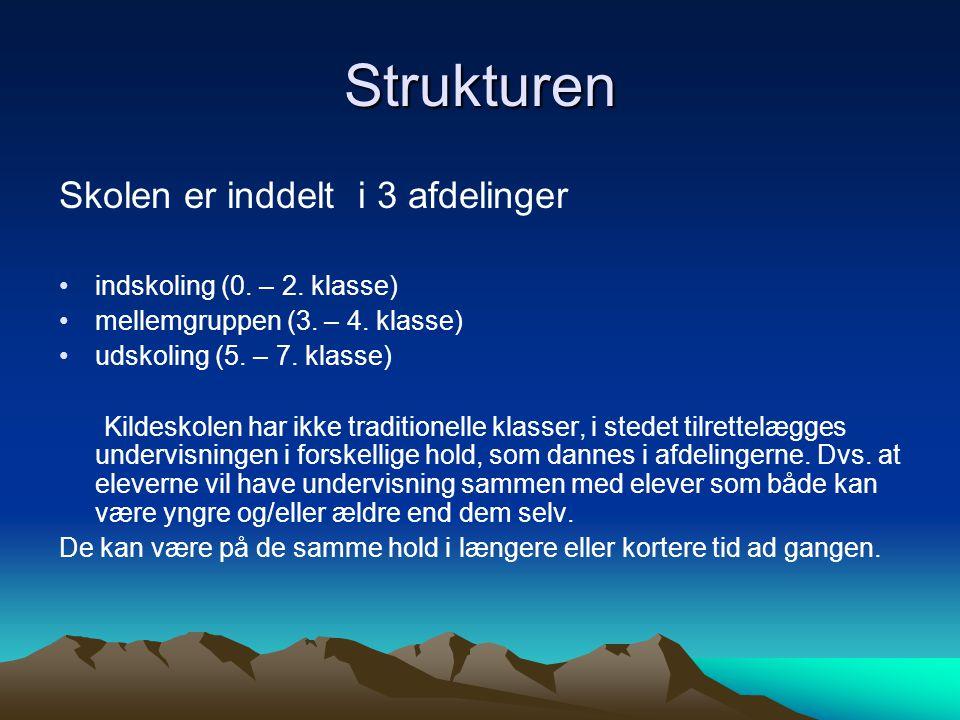 Strukturen Skolen er inddelt i 3 afdelinger indskoling (0.