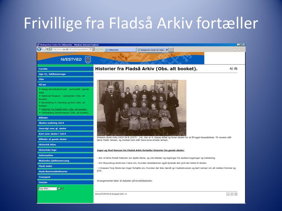 Frivillige fra Fladså Arkiv fortæller