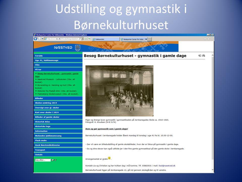 Udstilling og gymnastik i Børnekulturhuset