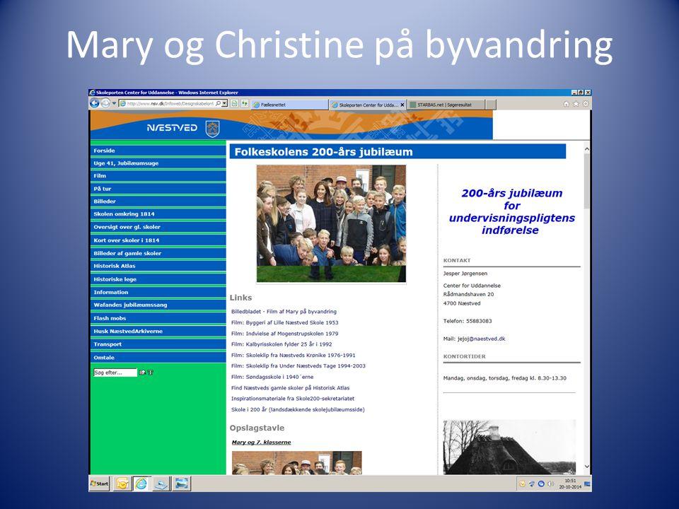 Mary og Christine på byvandring