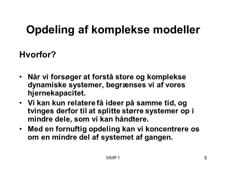 MMP 15 Opdeling af komplekse modeller Hvorfor.