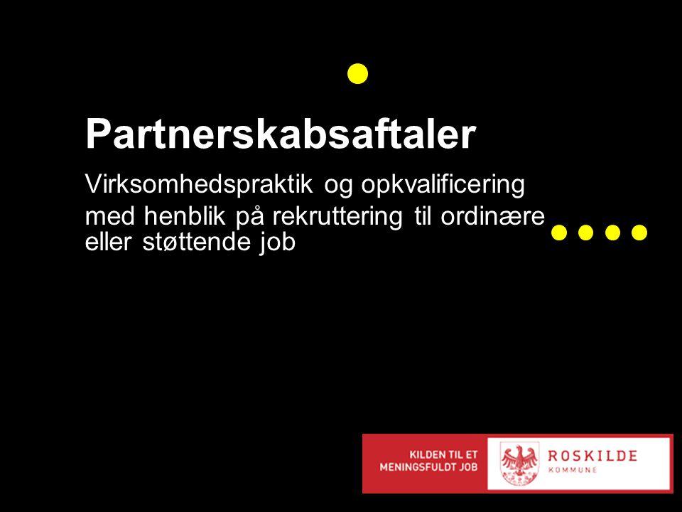 Partnerskabsaftaler Virksomhedspraktik og opkvalificering med henblik på rekruttering til ordinære eller støttende job