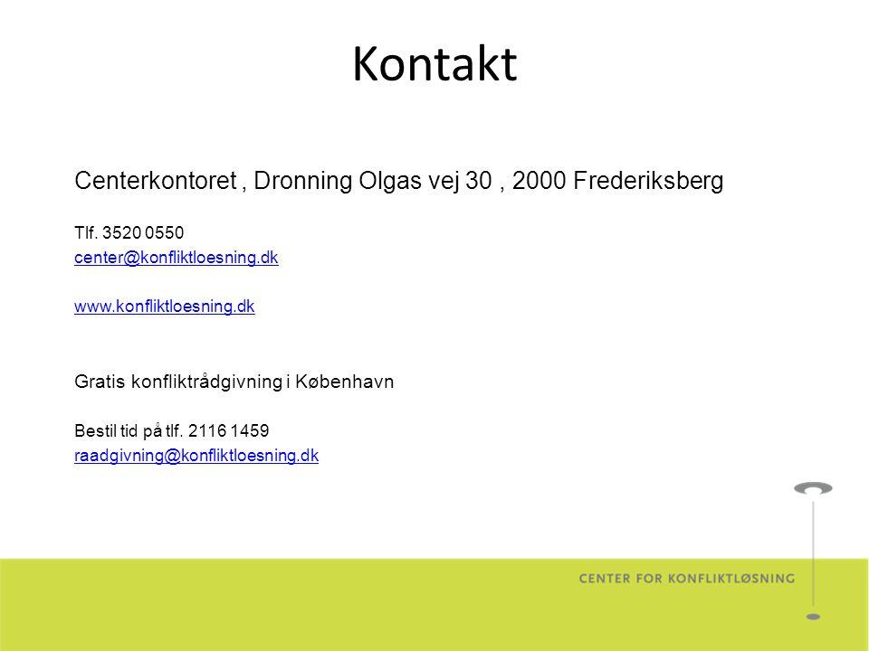 Kontakt Centerkontoret, Dronning Olgas vej 30, 2000 Frederiksberg Tlf.