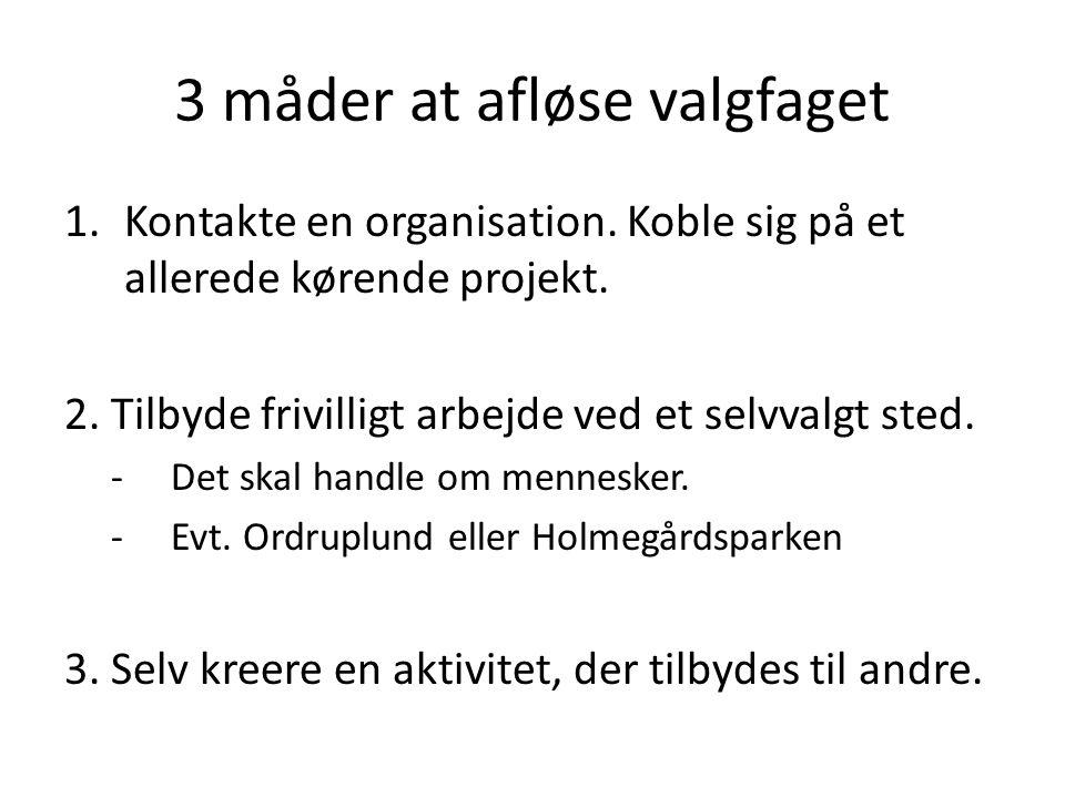 3 måder at afløse valgfaget 1.Kontakte en organisation.