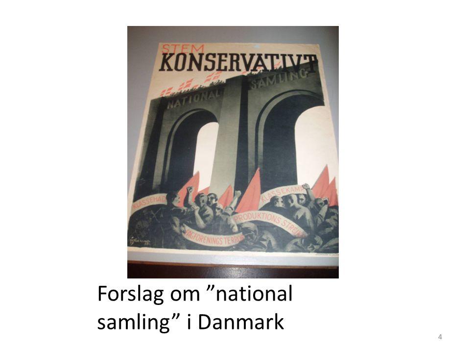 44 Forslag om national samling i Danmark