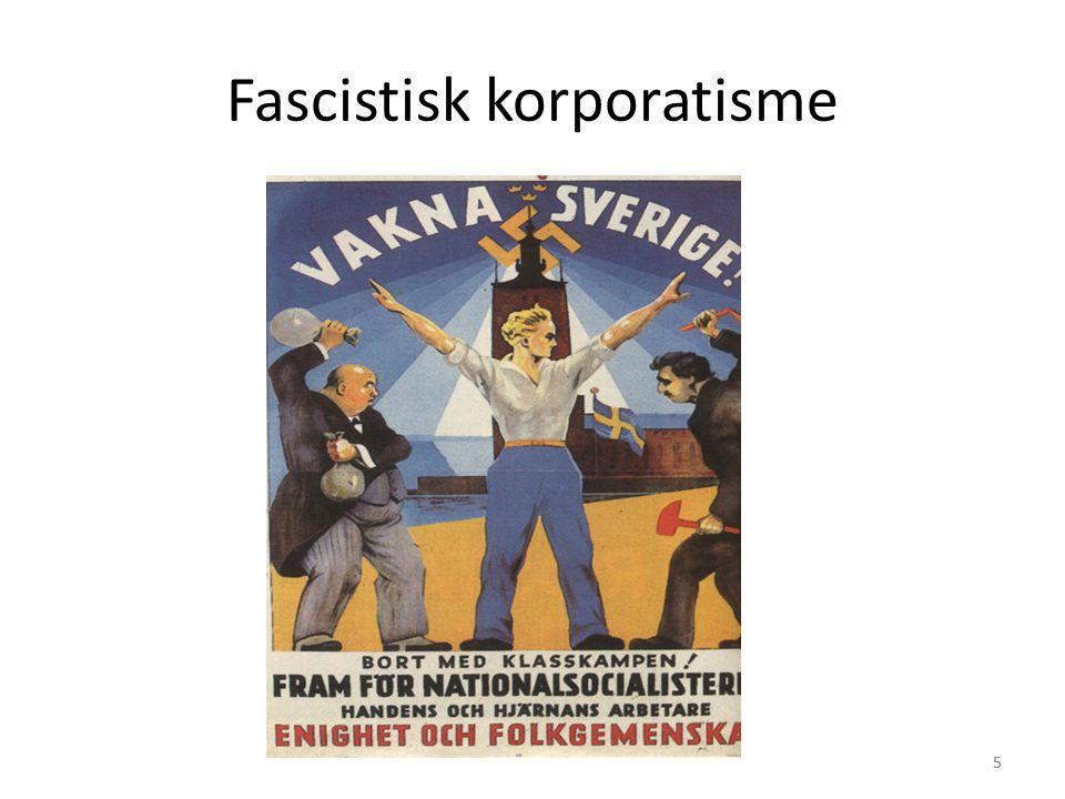 5 Fascistisk korporatisme 5